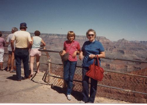 grandma and me, at the grandcanyon